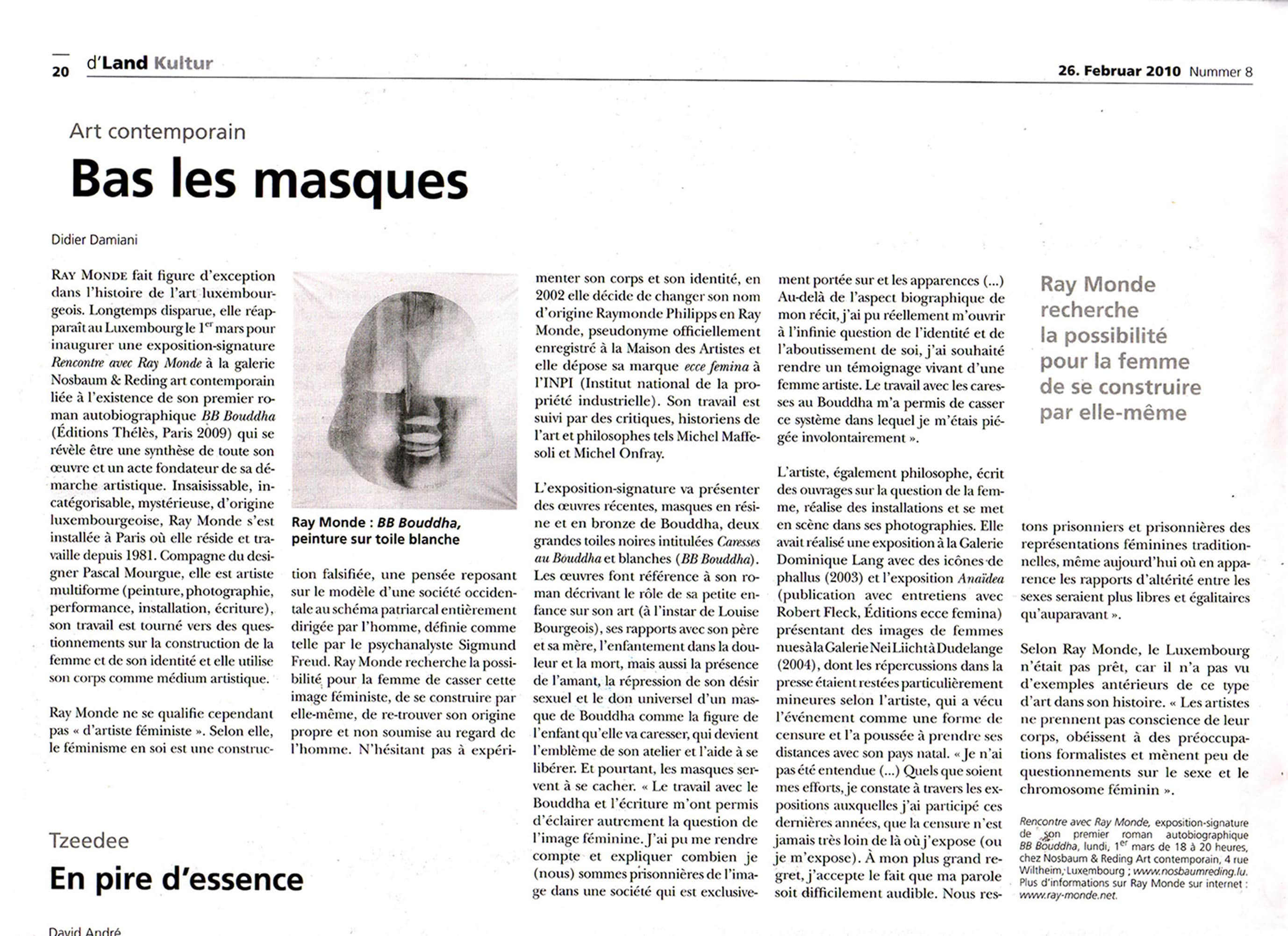 "Article ""bas les masques"""