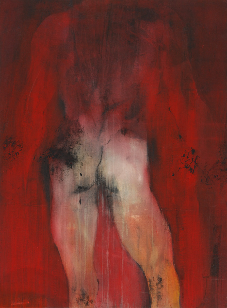 Man on red canvas - 100 x 130 cm - 1997