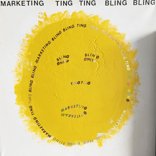 Marketing Ting Ting Bling Bling - 100 x 100 cm
