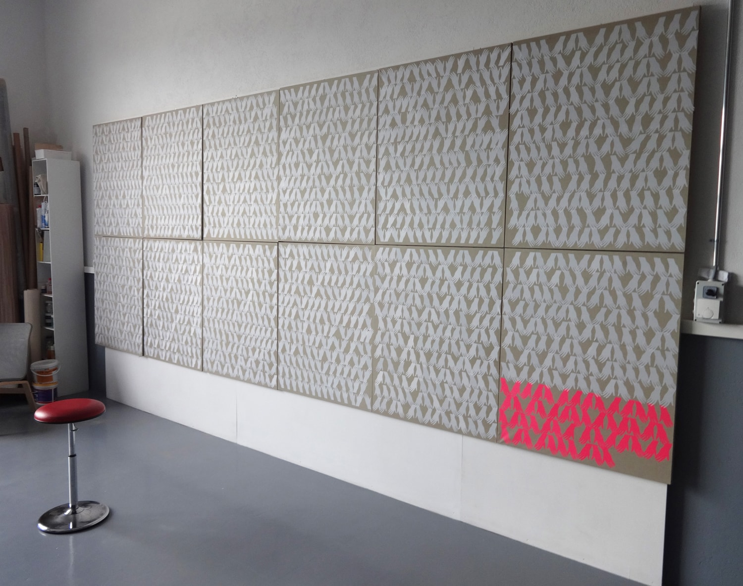 Calendar - Cut outs on canvas - 480 x 200 cm - 2012