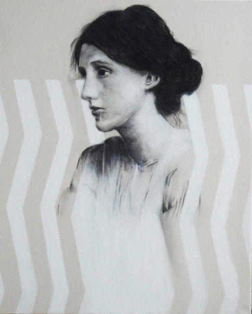 Virginia Woolf - 80 x 100 cm - Pigments on canvas - 2011